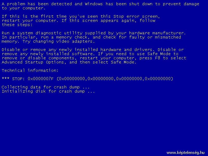 #kékhalál, #számítógép #laptop #adatvesztés